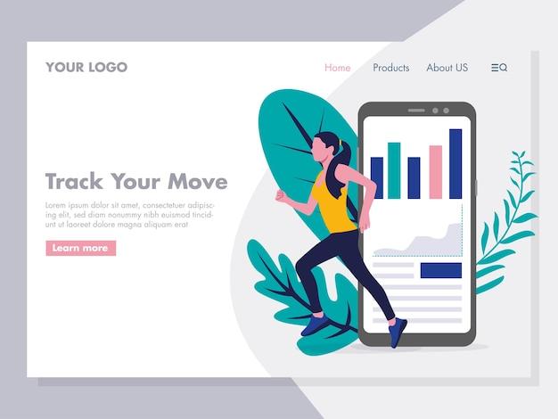 Application for running tracker illustration