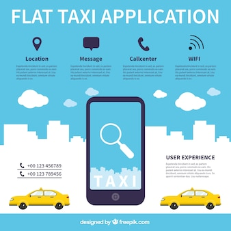 Application for taxi service flat style
