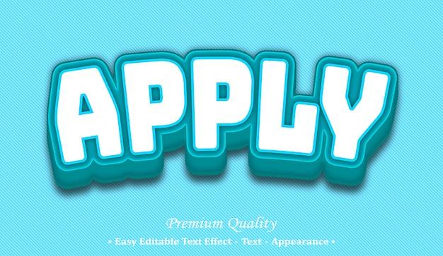 Apply  editable text style effect