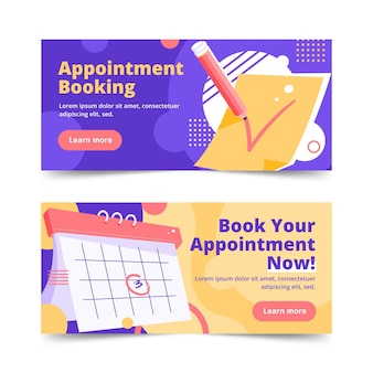 Appointment booking banner design