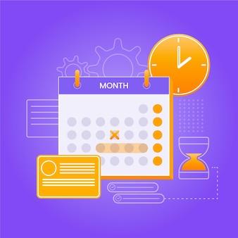 Концепция бронирования бронирования с календарем