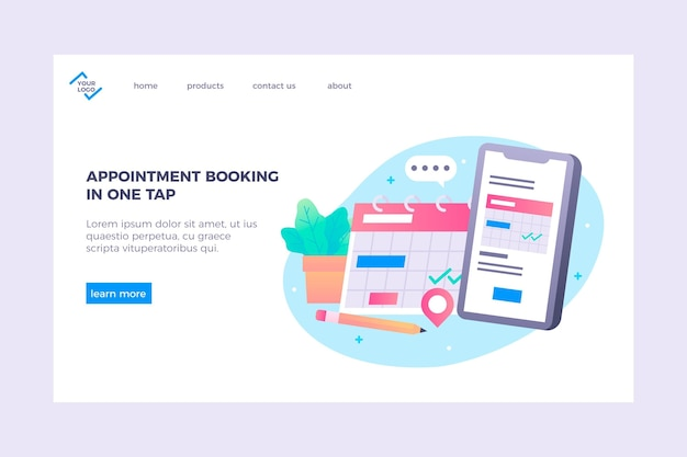 Appointment booking landing page template
