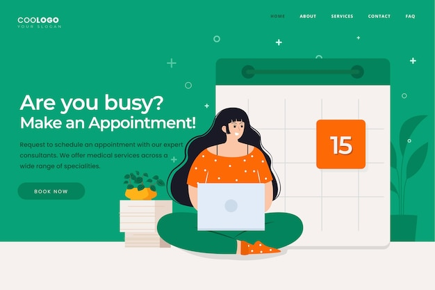 Appointment booking landing page theme