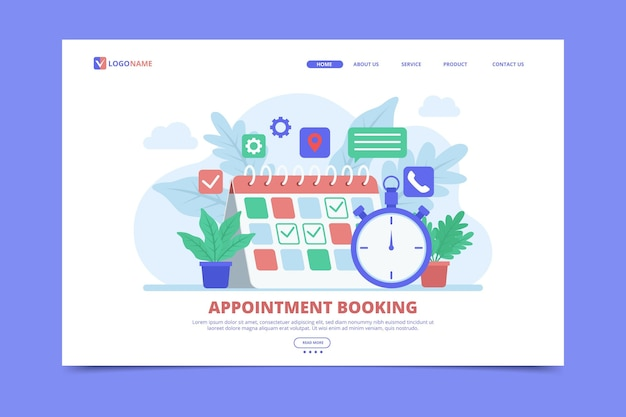 Appointment booking for landing page
