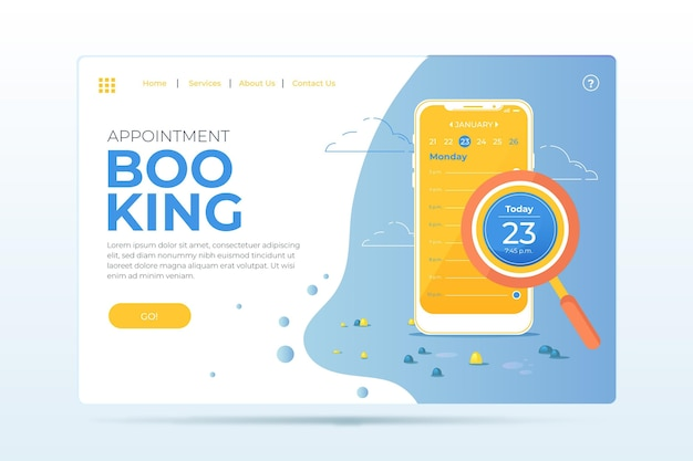 Appointment booking landing page