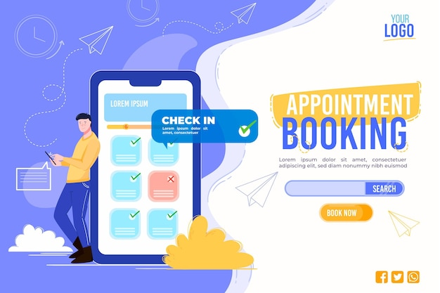 Appointment booking template for landing page