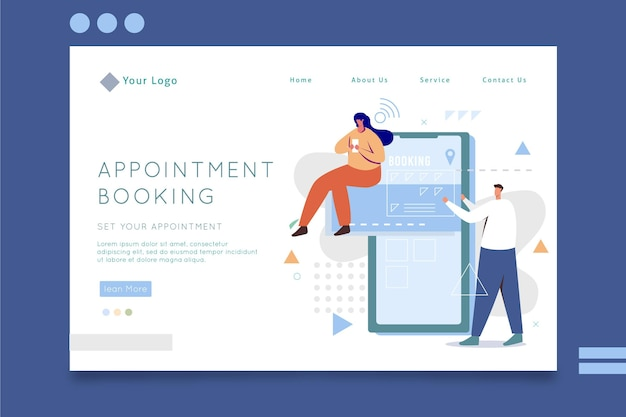Appointment booking template theme