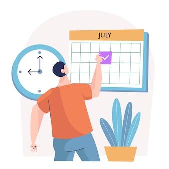Запись на прием с календарем и человеком