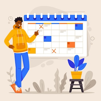Appointment booking with calendar concept
