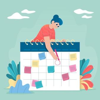 カレンダーでの予約