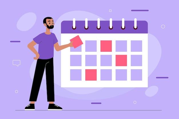 Запись на прием с календарем