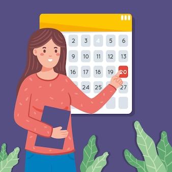 ぶら下げカレンダーによる予約
