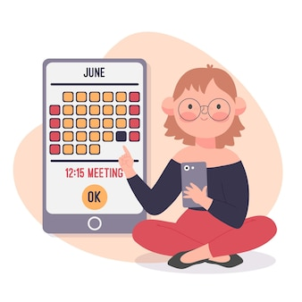 Appointment booking with person and calendar