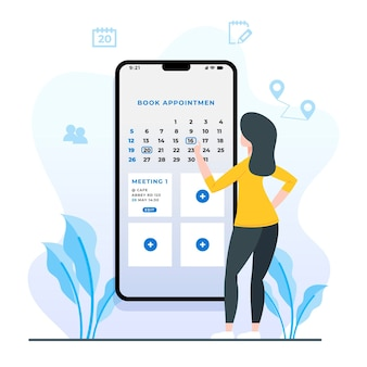 Appointment booking with smartphone