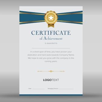 Appreciation certificate templates clean layout