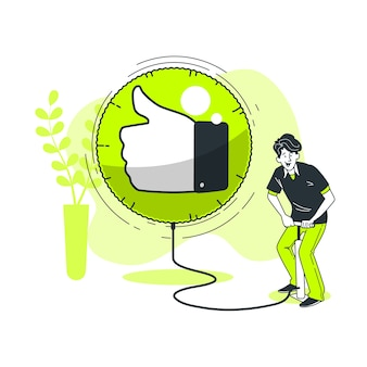 Appreciation concept illustration