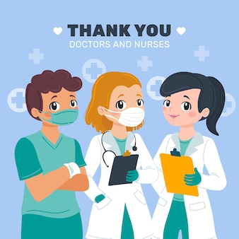 Appreciation of doctors and nurses