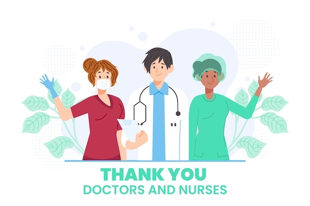 Appreciation illustration of doctors and nurses