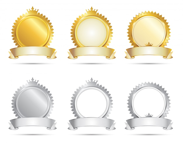 Approval seal gold & silver set