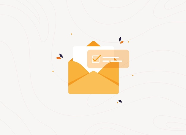 Approved open letter in envelope