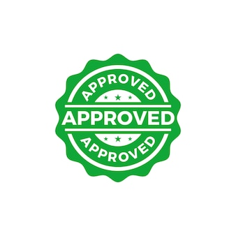 Approved seal stamp vector