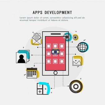 Apps development background