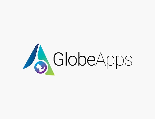 Apps logo with a letter and globe symbol
