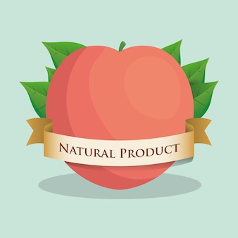Apricot natural product leaves ribbon