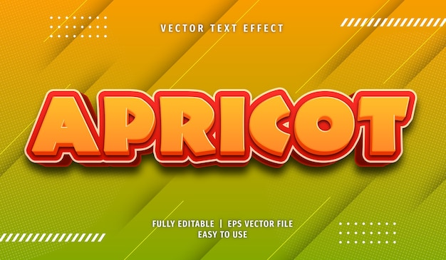 Apricot text effect editable text style