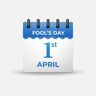 April fool's day on 1st april calendar