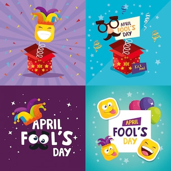 April fool's day card set