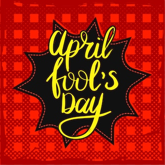 April fool's day poster.
