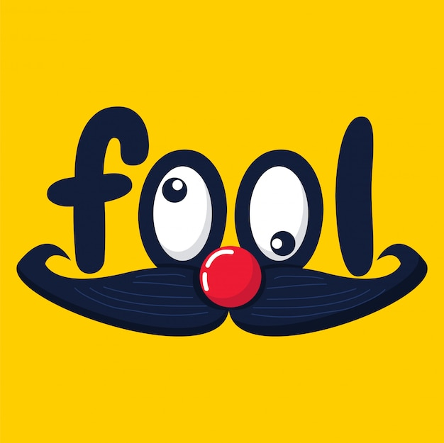 April fool's day vector funny face graphic