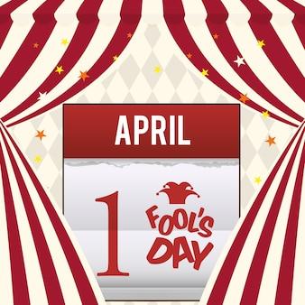 April fools day calendar design