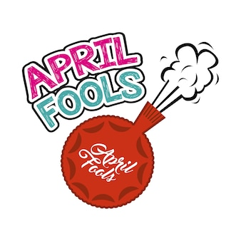 April fools day card with fart cushion icon
