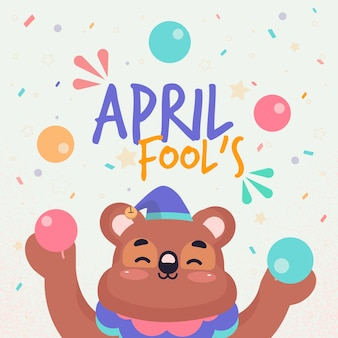 April fools day celebration design