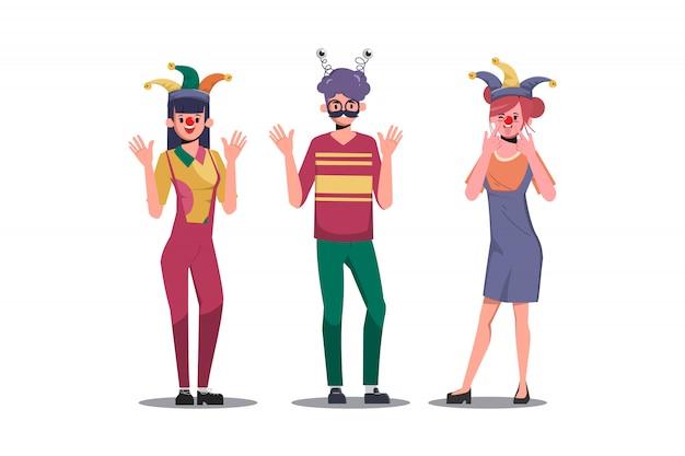 Первоапрельский день персонажа мультфильма «мальчик и девочка».