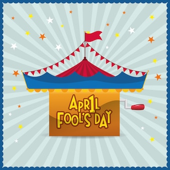 April fools day circus star background