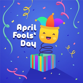 April fools day concept of event