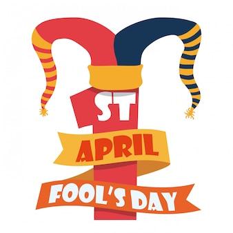 April fools day design, vector illustration.