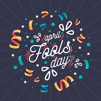 April fools day event celebration Free Vector