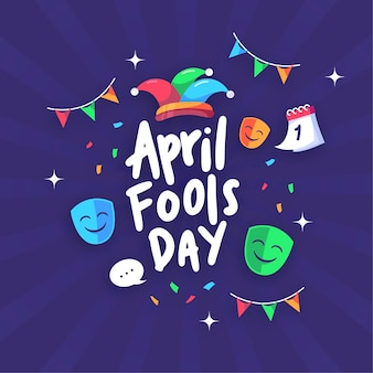 April fools day flat design
