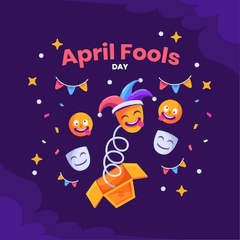 April fools day flat style