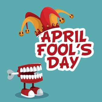 4月の愚か者の日の面白いポスター