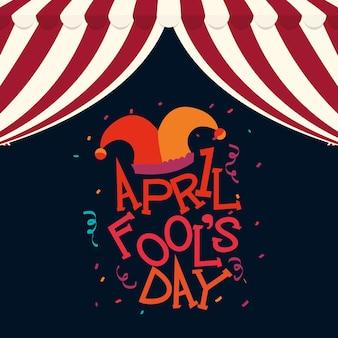 April fools day hat joker confetti