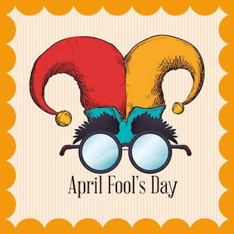 April fools day hat joker glasses