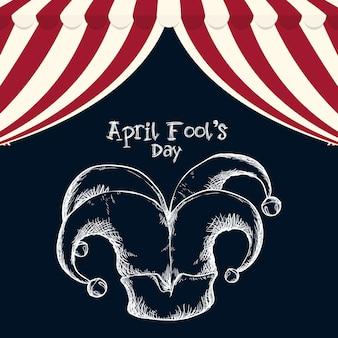 April fools day hat joker sketch