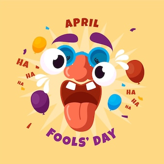 April fools' day illustration