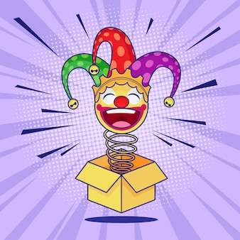 April fools day jack in the box emoticon jester
