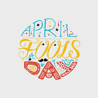 April fools day lettering